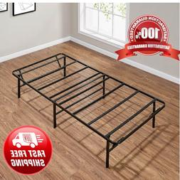 Platform Twin Size Bed Frame 14 Inch Mattress Foldable Metal