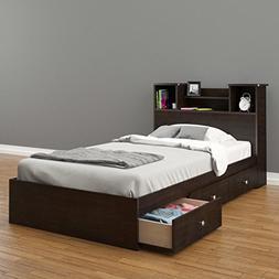 Nexera 4600 Pocono 39-Inch Storage Bed Frame, Twin, Espresso