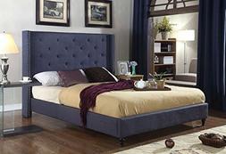 """Home Life Premiere Classics Cloth Charcoal Blue Linen 51"""" Ta"""