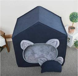 Princess Curtain Pet Dog Cat Bed House Sofa Indoor Bed Frame