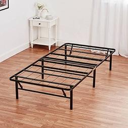 "Mainstays 14"" High Profile Foldable Steel Bed Frame with Und"