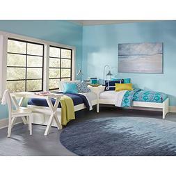 NE Kids Pulse Twin L Shaped Bed in White