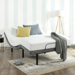 "Queen Adjustable Base Electric Bed Frame 14"" Mattress Massag"