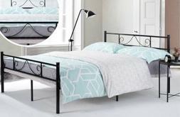 GreenForest Queen Bed Frame Metal With Headboard Steel Platf
