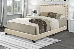 Queen Bed Frame With Headboard Low Profile Upholstered Platf