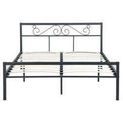 GreenForest Queen Bed Frame with Wooden Slats Support Metal