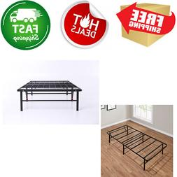 Queen Box Spring Replacement Metal Platform Bed Frame Mattre
