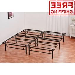 Queen Box Spring Replacement Metal Platform Bed Frame Mattre