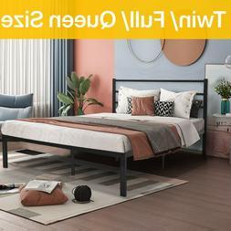 Queen Full Twin Size Bed Frame Platform Heavy Duty Mattress