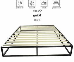 queen king full size platform bed frame