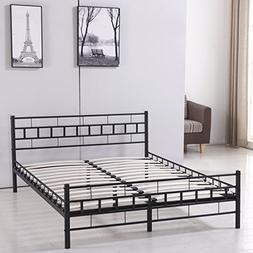 Sliverylake Queen Mattress Size Metal Platform Bed Frame wit