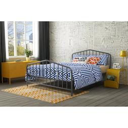 Queen Size Metal Bed Frame w/ Headboard & Footboard Bedroom