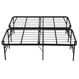 Queen Size Platform Bed Frame Steel Heavy Duty Foldable Bedr