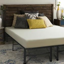 Queen Size 6 Inch Memory Foam Mattress w/ Folding Metal Bed