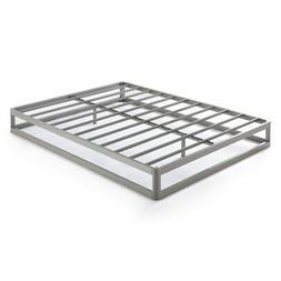 Queen Size 9 Inch Metal Platform Bed Frame, Round Type - Cro