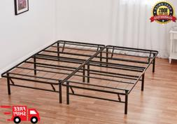Queen Size Bed Frame Heavy Duty Steel Base Mattress Platform