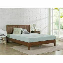 Queen Size Bed Frame Modern Farm House Country Platform Mid