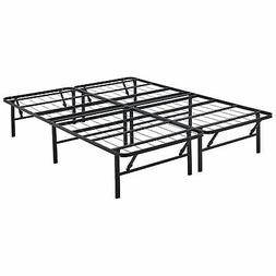 Queen size Metal Steel Foldable Bed Frame Mattress Foundatio