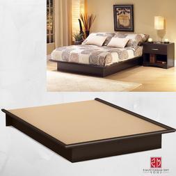 Queen Size Platform Bed Frame Bedroom Furniture Foundation M