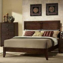 Queen Size Wood Bed Frame Panel Headboard Bedroom Furniture