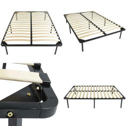Best Choice Products Queen Size Wooden Slat Metal Bed Frame