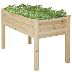 Best Choice Products 46x22x30in Raised Wood Planter Garden B