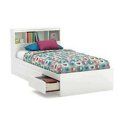 South Shore Reevo Twin Mates Bed With Bookcase Headboard , P