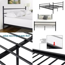 Reinforced Metal Bed Frame Queen Size, VECELO Platform Mattr