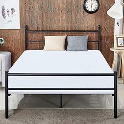 Replacement Bed Frame Queen Size Vecelo Metal Platform Mattr