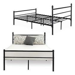 VECELO Reinforced Metal Bed Frame Queen Size Platform Mattre