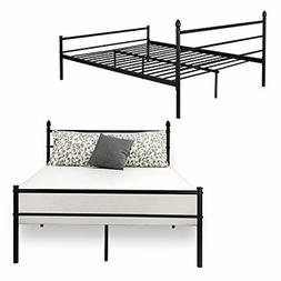 ❤ Replacement Bed Frame Queen Size Vecelo Metal Platform M