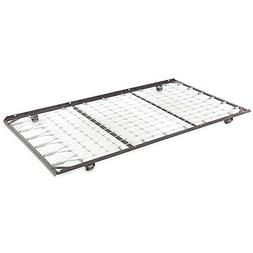 Roll-out Black Metal Trundle Unit Featuring a Stainless-stee