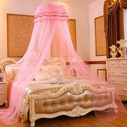 RuiHome Round Lace Princess Girls Bed Mosquito Net Hanging C