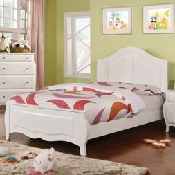 247SHOPATHOME IDF-7940F Childrens-Bed-Frames, Full, White