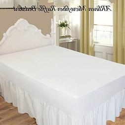 Ruffled/Gathering Solid Bed Skirt Soft Brushed Microfiber Be