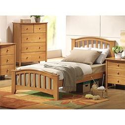 ACME San Marino Twin Slat Bed in Maple