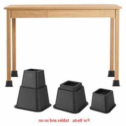Set of 8 Adjustable Anti-Slip Home Furniture Bed Table Riser