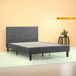 Zinus Shalini Upholstered Diamond Stitched Platform Bed in D
