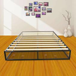 Simple Basic Iron Metal Bed Frame Wood Slats Home Bedroom Fu