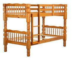 "100% Solid Wood Dakota Twin/Twin Bunk Bed, Mahogany, 61""h"