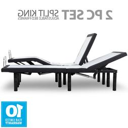 Split King Adjustable Bed Base Frame With Wireless Remote He