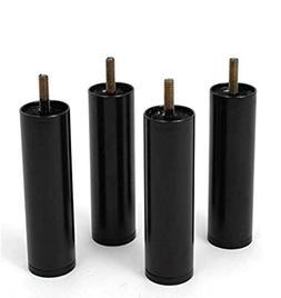 "5"" Steel Adjustable Bed Riser Legs, Set of 4"