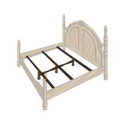 Hospitality Bed X-Support System 3 Rails, 3 Adjustable Legs