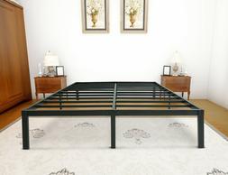 Zizin 14 Inch Steel Platform Bed Frame Easy Assembly Heavy D