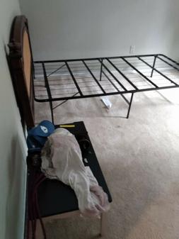 Steel Slat Bed Frame/Black, Twin Size