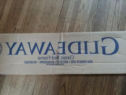 Glideaway steel twin/full bed frame new in box!!