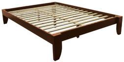 Stockholm Solid Wood Bamboo Platform Bed Frame, Full-size, W
