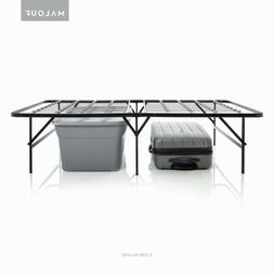 STRUCTURES HIGH-RISE Foldable Metal Bed Frame - 17 Inch Heig