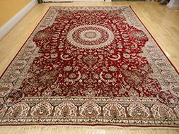 Stunning Silk Persian Area Rugs Traditional Red Tabriz 5x8 L
