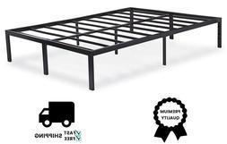 Sleeplace SVC14BF04K 14 Inch Dura Metal Steel Slate Bed Fram